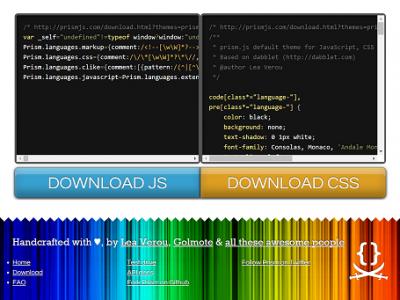 prism download js css